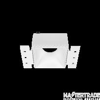 Hoff Lights 841112107 MALTA TRIMLESS SQUARE WHITE RING FOR LED MODULE O GU10 MAX 13W