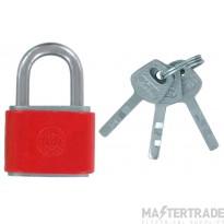 Deligo LOPR Lockout Padlock Red