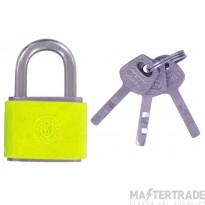 Deligo LOPY Lockout Padlock Yellow