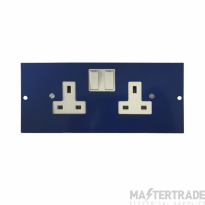 Marco MP3-2GS Twin Switched Socket 86mm