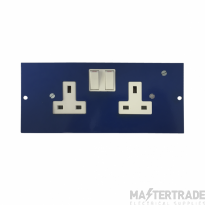 Marco MP3-2GSC Twin Switched Socket 86mm