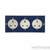 Marco MP3-3GS 3 Single Unswitched Socket 86mm