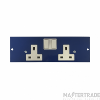 Marco MP4-2GS Twin Switched Socket 86mm
