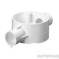 Schneider 2-Way Through Box for 25mm Conduit White 25CJB3W