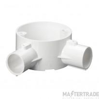 Schneider 2-Way Angle Box PVC 20mm White 20CJB4W