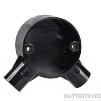 Schneider 2-Way Angle Box for 20mm Conduit Black 20CJB4B