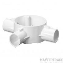 Schneider 3-Way Tee Box for 25mm Conduit White 25CJB5W