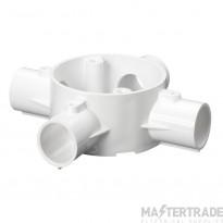 Schneider Mita 4-Way Intersection Box for 20mm Conduit White 20CJB6W