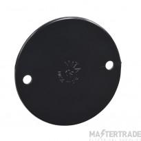 Schneider PVC Standard Circular Box Lid 65mm Black LID1B