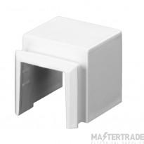 Schneider Mita, trunking adaptor, mini trunking 16x16mm to box MTAU1W