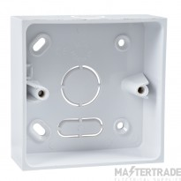 Schneider Moulded Socket Box Surface Mount 2 Gang 32mm KBU322W