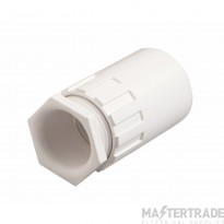 Schneider Female Adaptor for 25mm Conduit White PFA25W