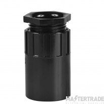 Schneider PVC Female Adaptor 25mm Black PFA25B