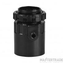 Schneider PVC Male Adaptor 20mm Black PMA20B