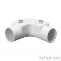 Schneider Mita PVC Inspection Elbow 20mm White PIE20W