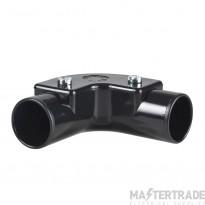 Schneider Mita PVC Inspection Elbow 20mm Black PIE20B