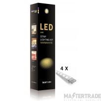 Techtouch 10082 WARMWHITE AXIS KIT 4X9 LED RIGID STRIPS (3W)