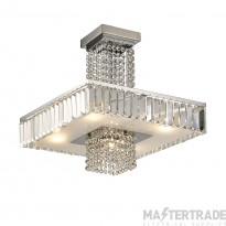 Diyas IL31550 Ophelia Semi Ceiling 6 Light Polished Chrome/Crystal