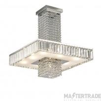 Diyas IL31551 Ophelia Semi Ceiling 8 Light Polished Chrome/Crystal