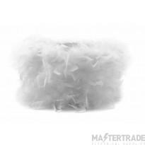 Diyas ILS10623 Arqus Feather Shade White 410mm x 200mm