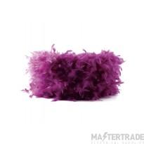 Diyas ILS10628 Arqus Feather Shade Aubergine 330mm x 200mm