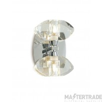 Mantra M0424/S Alfa Wall Lamp Switched 2 Light G9, Polished Chrome