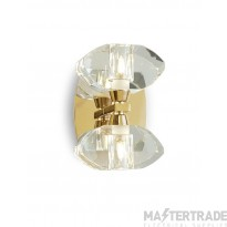 Mantra M0562FG/S Alfa Wall Lamp Switched 2 Light G9, French Gold