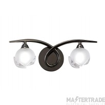 Mantra M0817BC/S Fragma Wall Lamp Switched 2 Light G9, Black Chrome