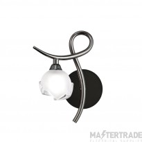 Mantra M0818BC/L/S Fragma Wall Lamp Left Switched 1 Light G9, Black Chrome