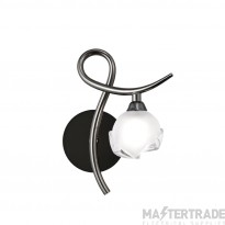 Mantra M0818BC/R/S Fragma Wall Lamp Right Switched 1 Light G9, Black Chrome