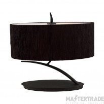 Mantra M1158/BS Eve Table Lamp 2 Light E27 Small, Anthracite With Black Oval Shade