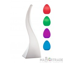 Mantra M1381 Flame Table Lamp Large Induction LED RGB Outdoor IP65 , 120lm, Opal White, 3yrs Warranty