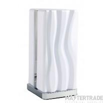 Mantra  M5046 Arena Table Lamp 8W LED White IP20 3000K, 1080lm, Polished Chrome/White Acrylic, 3yrs Warranty