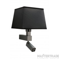 Mantra M5233 Bahia Wall Lamp 1 Light Without Shade E27 + Reading Light 3W LED Bronze 4000K, 200lm,, 3yrs Warranty