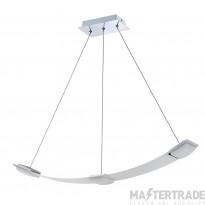 Mantra M8330 Thea Pendant 3 Light 21W LED 3000K, 1890lm, Satin Aluminium/Frosted Acrylic, 3yrs Warranty
