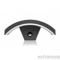Outdoor Curve Wall Light 7.6W 3000K 360lm IP54 with Integrated PIR sensor