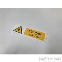 Ind Signs IS0310SA Danger 415V Lbl Pk10