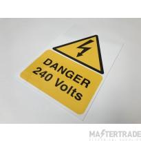 Ind Signs IS4801RP Danger 240V Label Pk1
