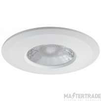 JCC V50 LED Fire Rated Downlight Emergency with White Bezel