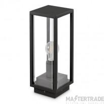 JCC Decorative square post/ceiling lantern 350mm ES E27 15W LED max IP54 Black