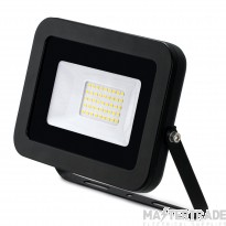 30W LED Floodlight IP65 Alu 4000K Black