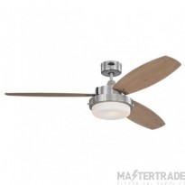 "Alloy Ceiling Sweep Fan  132cm/52"" Brushed Nickel-Beech/Graphite"