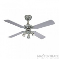 "Princess Euro Ceiling Sweep Fan 105cm/42"" Dark Pewter/Chrome-Silver/Graphite"