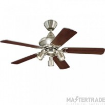 """Kingston Ceiling Sweep Fan 105cm/42"""" Brushed Auminum-Weathered Maple/Silver"""