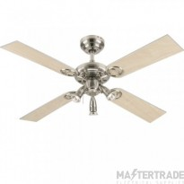 """Pearl Ceiling Sweep Fan 105cm/42"""" Stainless Steel-Light Maple/White"""