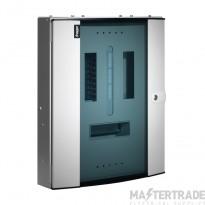 Hager Invicta 3 4 Way TPN Glazed Door Distribution Board 125A JK104BG