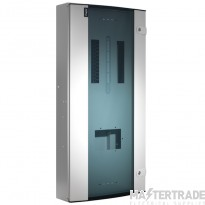 Hager Invicta 3 8 Way TPN Glazed Door Distribution Board 250A JK208BG
