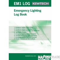 KEWTECH EMLOG Emer Lighting Log Book A4