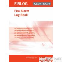 KEWTECH FIRLOG Fire Alarm Log Book A4