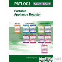 KEWTECH PATLOG1 PAT Test Register Book